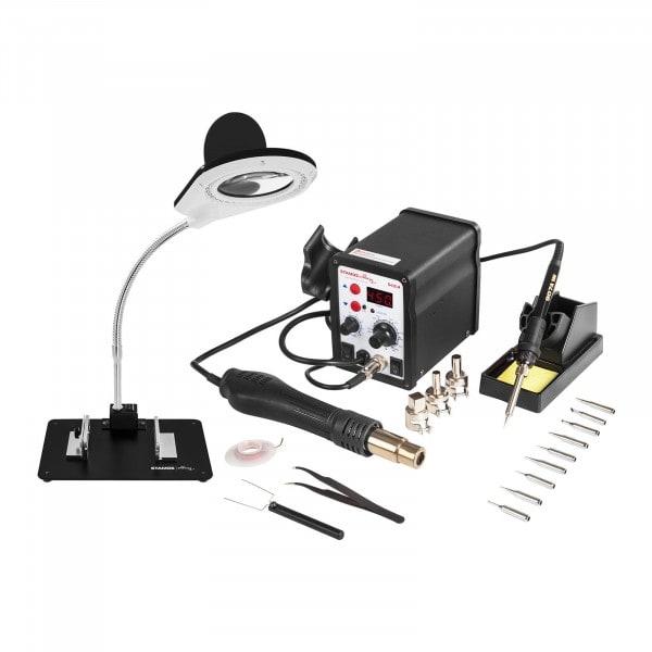 Set estación de soldadura - 60 watt - pantalla LED + accesorios