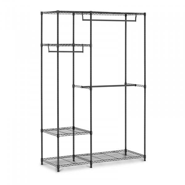 Estructura de metal para ropa - 120 x 45 x 179,5 cm - 270 kg - negra