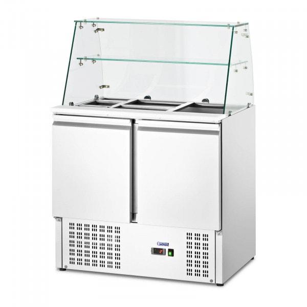 Bajomostrador refrigerado - con cubierta de vidrio - royal_catering - 240 L - para 7 contenedores GN - 90 x 70 cm