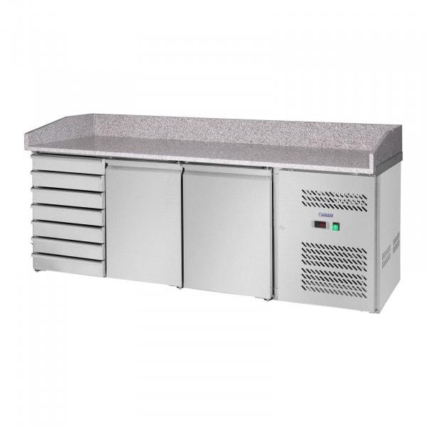 Mesa refrigerada - 580 L - encimera de granito - 2 puertas