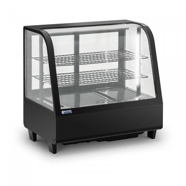 Vitrina refrigerada - 100 L - 3 niveles - puertas correderas - negra
