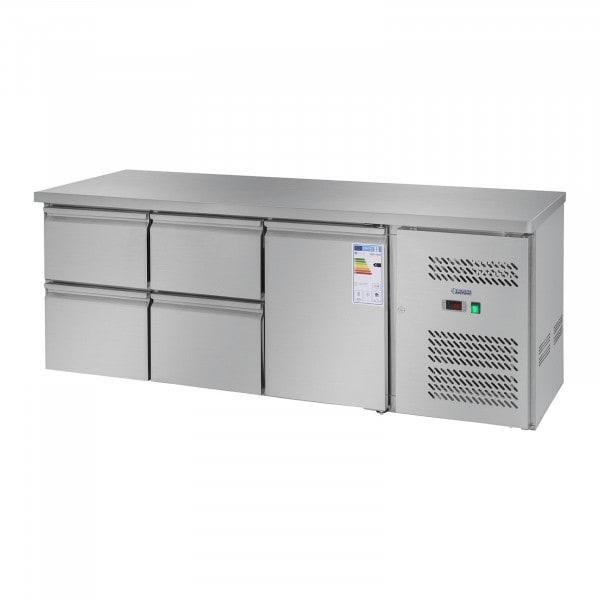 Mesa refrigerada - 403 L - 1 puerta - 4 cajones