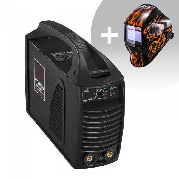 Set de soldadura Equipo de soldadura MMA - 250 A - Hot Start - IGBT + Careta de soldar – Firestarter 500 – ADVANCED SERIES