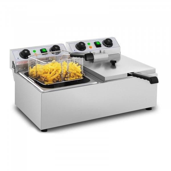 Freidora eléctrica - 2 x 10 litros - temporizador - 230 V