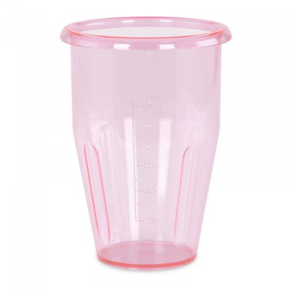 Vaso para batido - 0,75 L - Tritan - 115 x 160 mm - rosa
