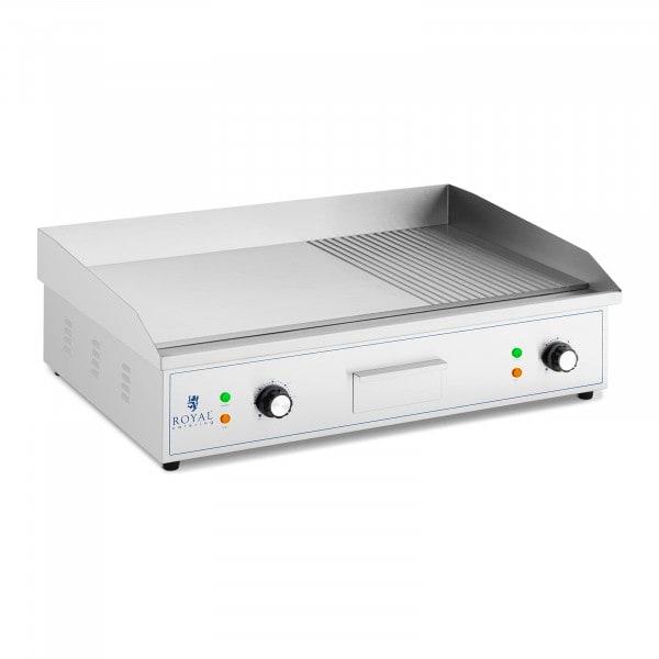Plancha eléctrica fry-top - 727 x 420 mm - lisa - 3.000 W