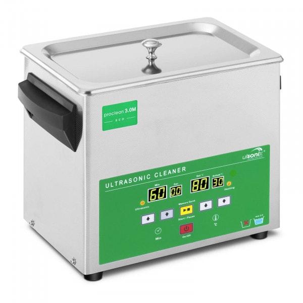 Limpiador por ultrasonidos - 3 litros - 80 W - Memory Quick Eco