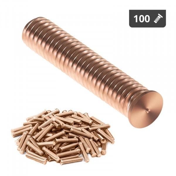 Pernos para soldar - M8 - 40 mm - acero - 100 unidades