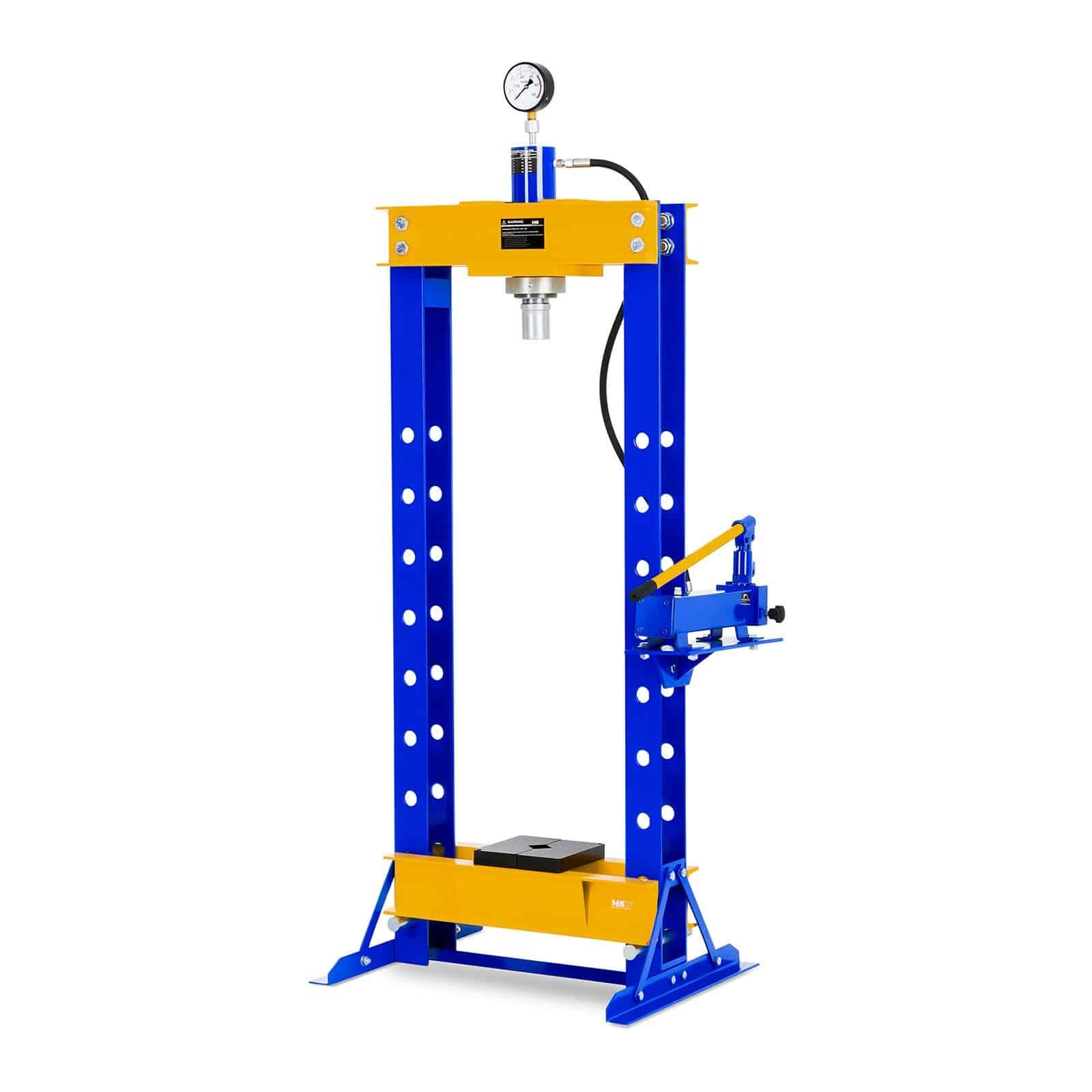 Prensa hidráulica de taller mecánico