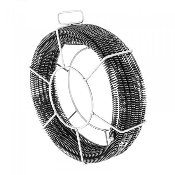 Sonda desatascadora de tuberías Set- 5 x 2,3 m - Ø 16 mm & 1 x 2,4 m - Ø 15 mm