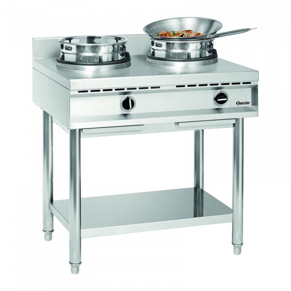 Bartscher cocina wok 2 quemadores