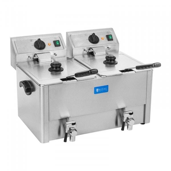 Freidora eléctrica - 2 x 13 litros - termostato EGO