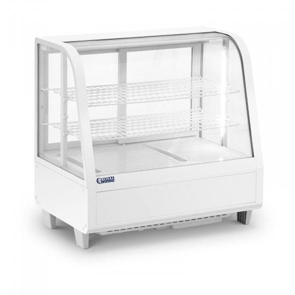 Vitrina refrigerada - 100 L - 3 niveles - puertas correderas - blanca