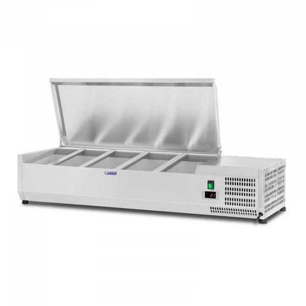 Vitrina refrigerada - 120 x 33 cm - 5 contenedores GN 1/4