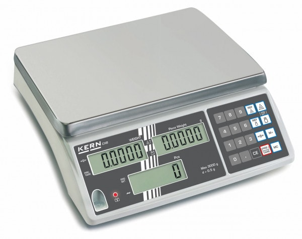 KERN Balanza cuentapiezas - 15.000 g / 5 g - calibración opcional
