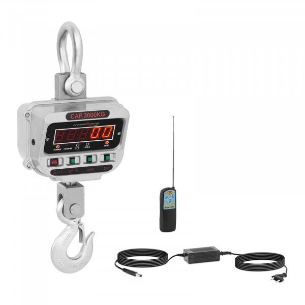 Dinamómetro digital - 3 t / 0,5 kg - LED