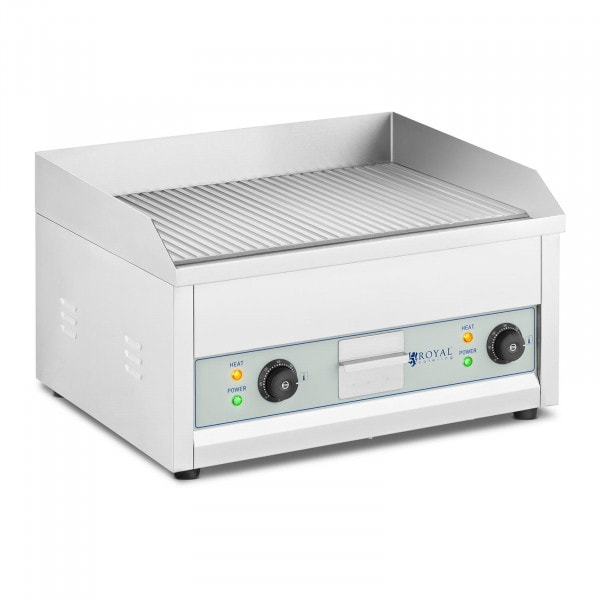 Plancha eléctrica fry-top doble - 600 x 400 mm - Royal Catering - 2 x 2.500 W